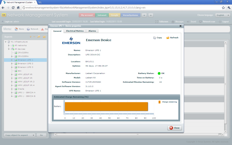 Emerson monitoring - Verax Systems